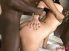 Small tits teen all fuck holes pounded by big ebony cocks