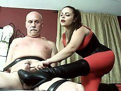 Super-steamy pornographic starlet domination with climax