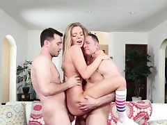 Wild teenager double penetration screwed in realsex 3 way