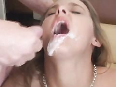 Unexperienced whore getting hard dual penetrated