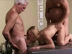 Antique Old Youthful Teenie Damsel Pounded grey hair grandpas