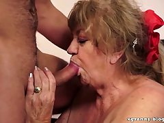 Big-boobed grandmother sex