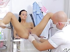 Sugary-sweet beauty determined to visit her doctor