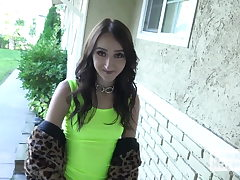 Lovely lil teen Carmen Rae gets pounded stiff from hookup hots