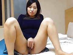 Nice Korean wife's dirty masturbation and fuck-a-thon