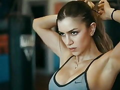 Anllela Sagra. Hidden strong, bulky and intimidating arms
