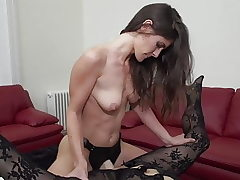 Daughter porks huge-boobed mature mom with strapon
