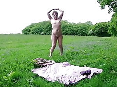 Solo Outdoor Disrobe & Toying Myself To Climax
