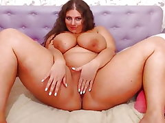 Obese Webcam Lady with Gigantic Knockers Bouncing (no sound)