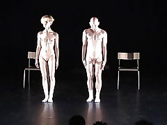 snr art naked dance display