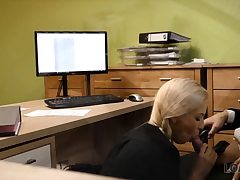LOAN4K. Fuck-a-thon audition is performed in loan office by naughty..