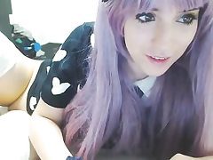 Cute anime cosplayer stunner on cam