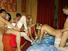 Awesome theme orgy soiree in medical fashion